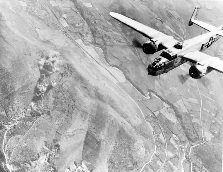 American B-25 bomber