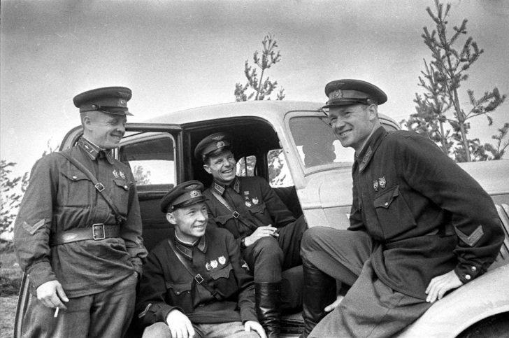 Soviet fighter pilots