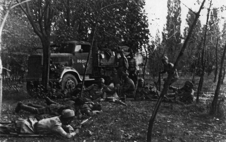 Soviet soldiers in the battles in Belgrade