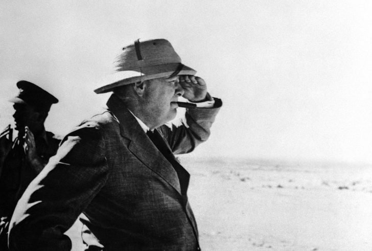 Winston Churchill near El Alamein