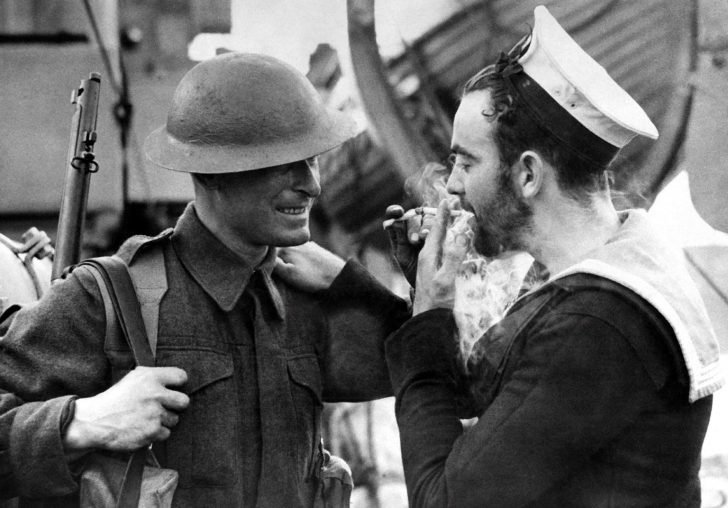 English soldier, Canadian sailor
