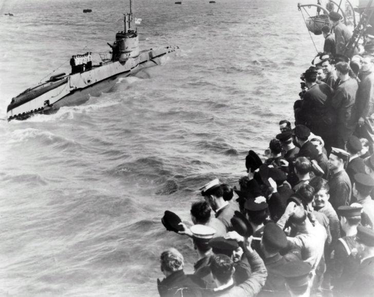 British sailors, submarine Sunfish