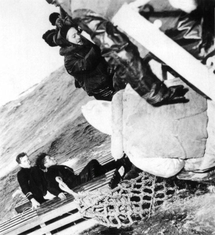 Sailors from a sunk merchant ship