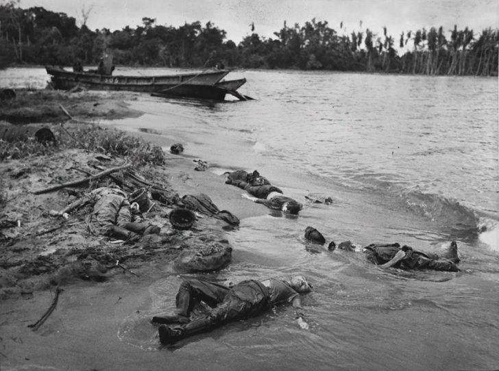 bodies of Japanese soldiers