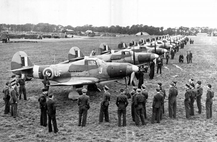 P-400 Airacobra fighters