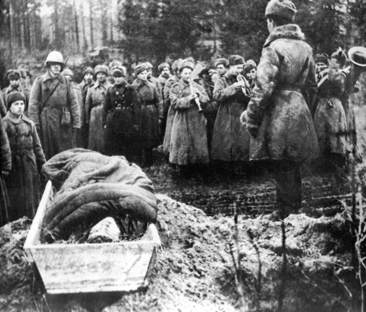 funeral of the Soviet poet