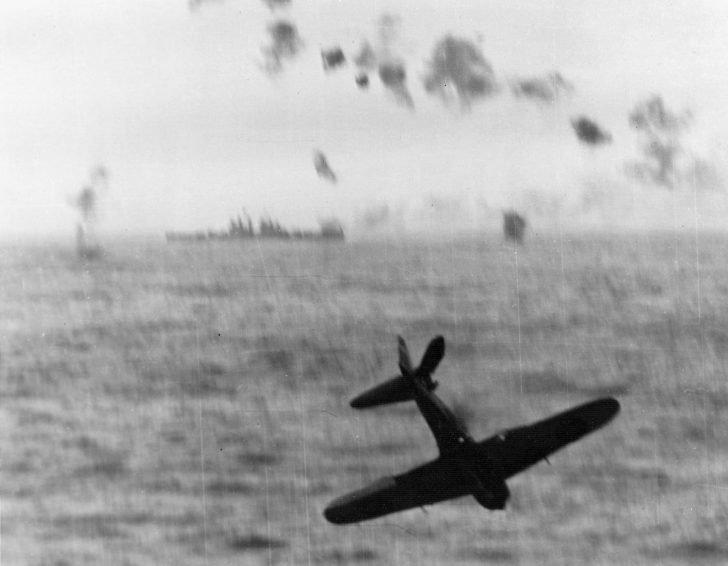 Japanese kamikaze plane