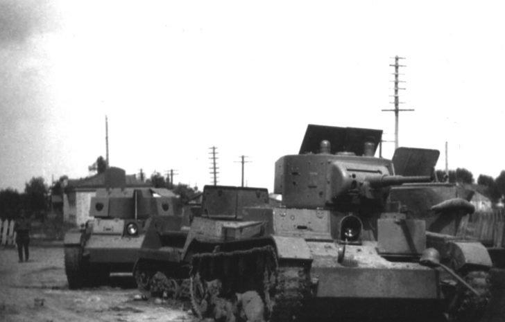 Soviet tanks T-26