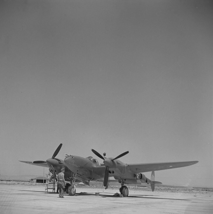 American P-38 fighter